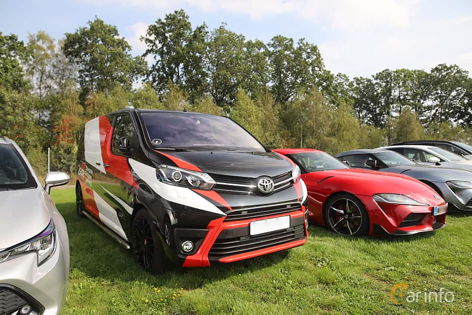 Front/Side  of Toyota ProAce Panel Van 2019 at Autoropa Racing day Knutstorp 2019