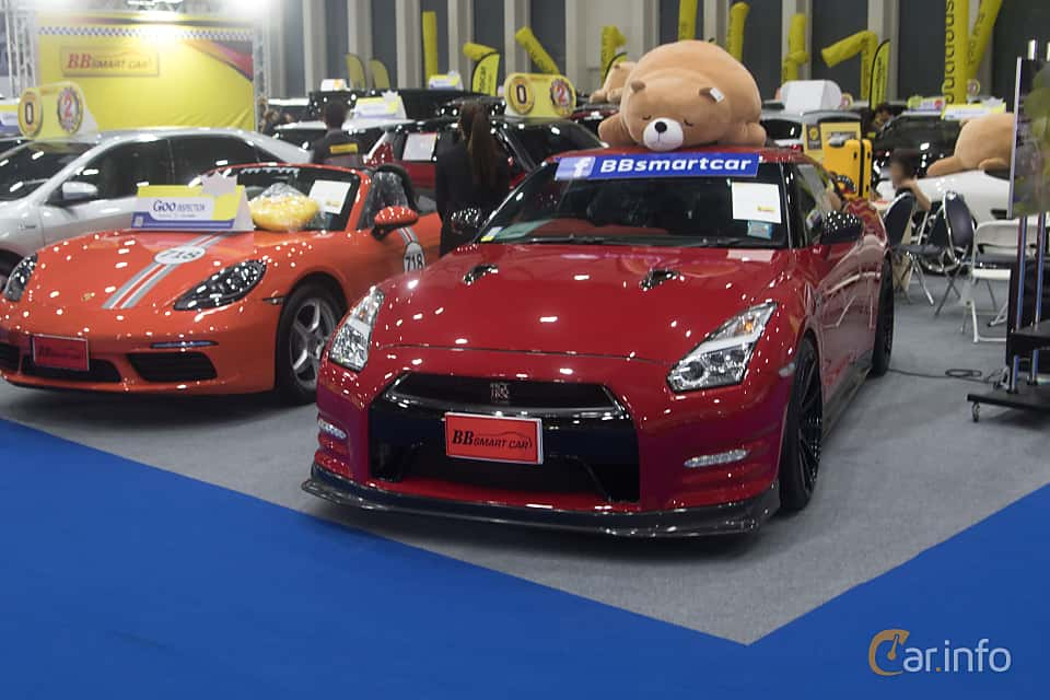 Front/Side  of Nissan GT-R 3.8 V6 4x4 DCT, 530ps, 2012 at Bangkok Motor Show 2019
