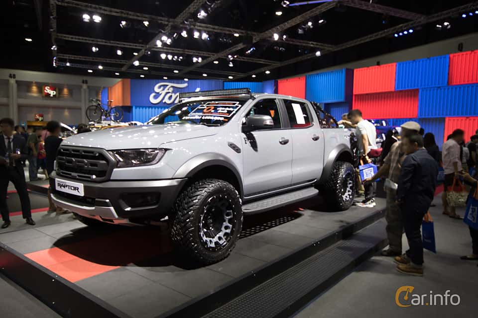 Front/Side  of Ford Ranger Raptor 2.0 EcoBlue 4x4 Automatic, 213ps, 2019 at Bangkok Motor Show 2019