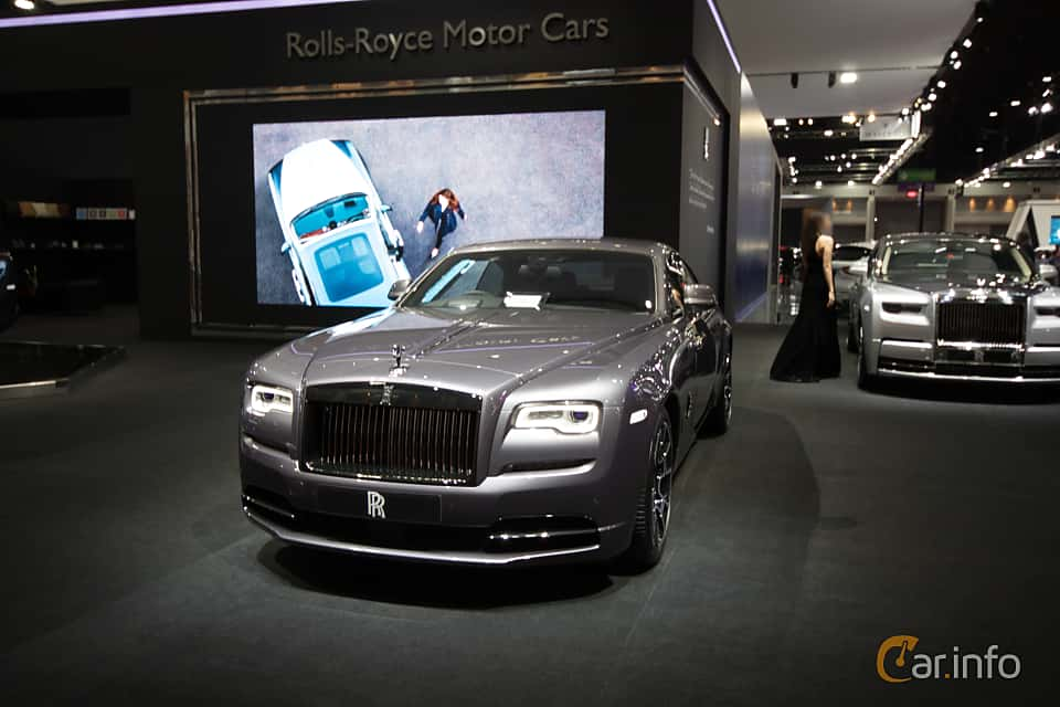 Front/Side  of Rolls-Royce Wraith Coupé 6.6 V12 Automatic, 632ps, 2019 at Bangkok Motor Show 2019