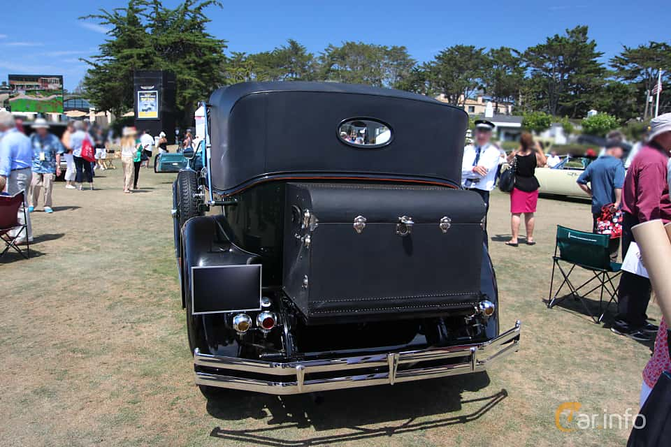 Back of Hispano-Suiza H6B Cabriolet 6.6 Manual, 135ps, 1929 at Pebble Beach Concours d'Elegance 2015