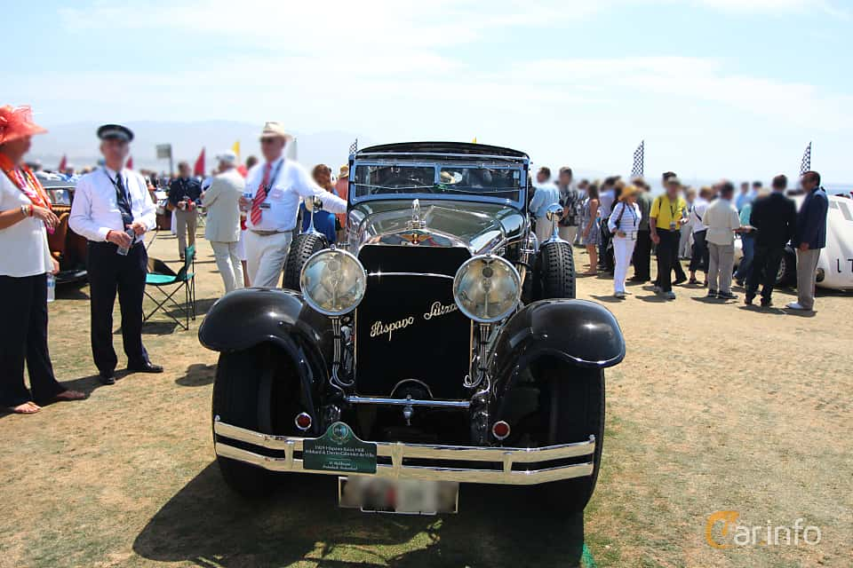 Front  of Hispano-Suiza H6B Cabriolet 6.6 Manual, 135ps, 1929 at Pebble Beach Concours d'Elegance 2015