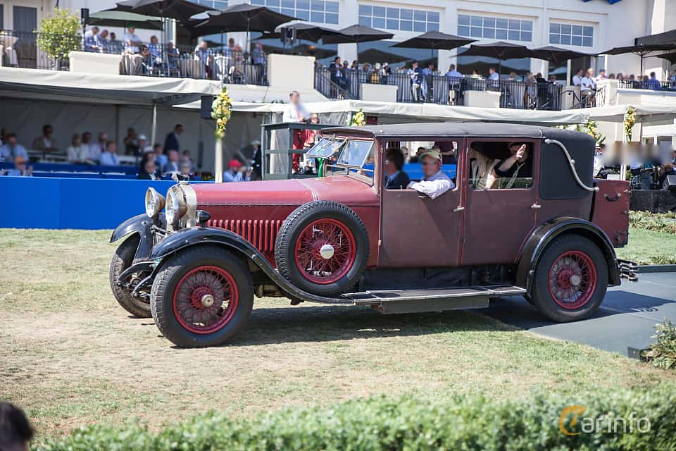 Side  of Hispano-Suiza T49 Limousine 3.7 Manual, 91ps, 1927 at Pebble Beach Concours d'Elegance 2015