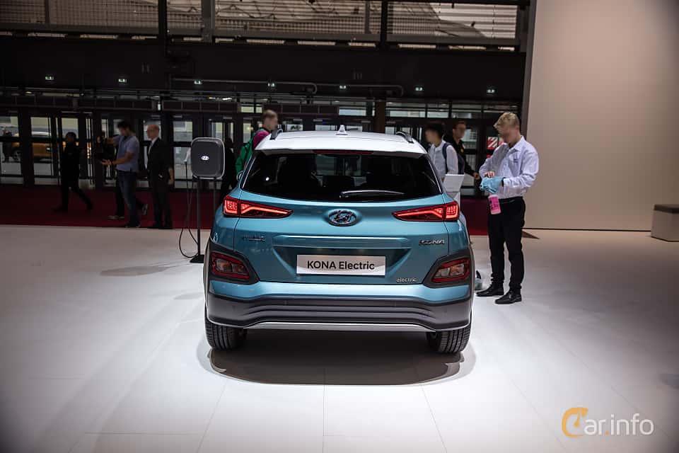 Back of Hyundai Kona Electric 64 kWh Single Speed, 204ps, 2019 at Paris Motor Show 2018