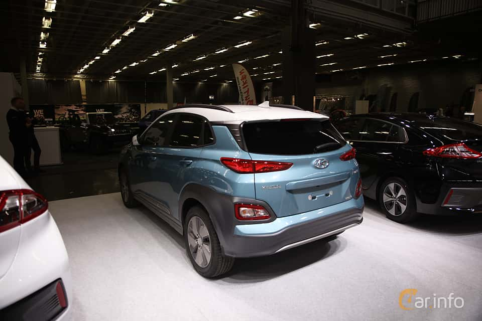 Back/Side of Hyundai Kona Electric 64 kWh Single Speed, 204ps, 2019 at eCar Expo Göteborg 2018