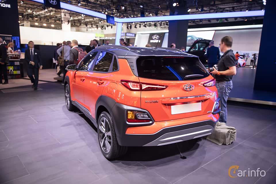 Back/Side of Hyundai Kona 1.6 T-GDI AWD DCT, 177ps, 2018 at IAA 2017