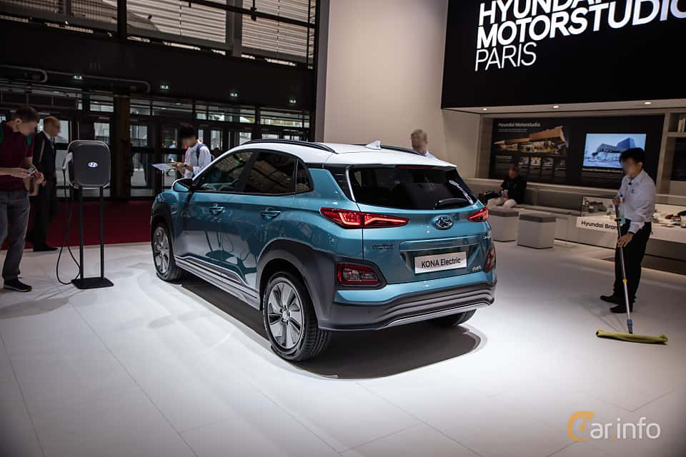 Back/Side of Hyundai Kona Electric 64 kWh Single Speed, 204ps, 2019 at Paris Motor Show 2018