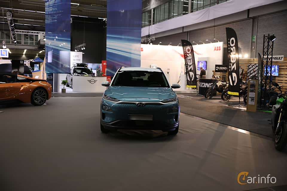 Front  of Hyundai Kona Electric 64 kWh Single Speed, 204ps, 2019 at eCar Expo Göteborg 2018