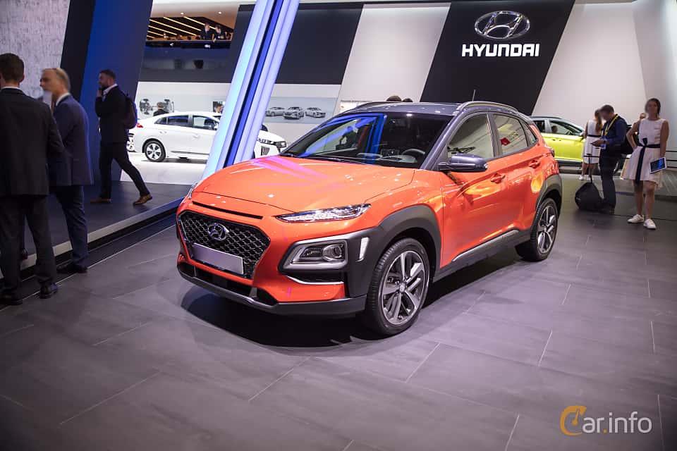 Front/Side  of Hyundai Kona 1.6 T-GDI AWD DCT, 177ps, 2018 at IAA 2017