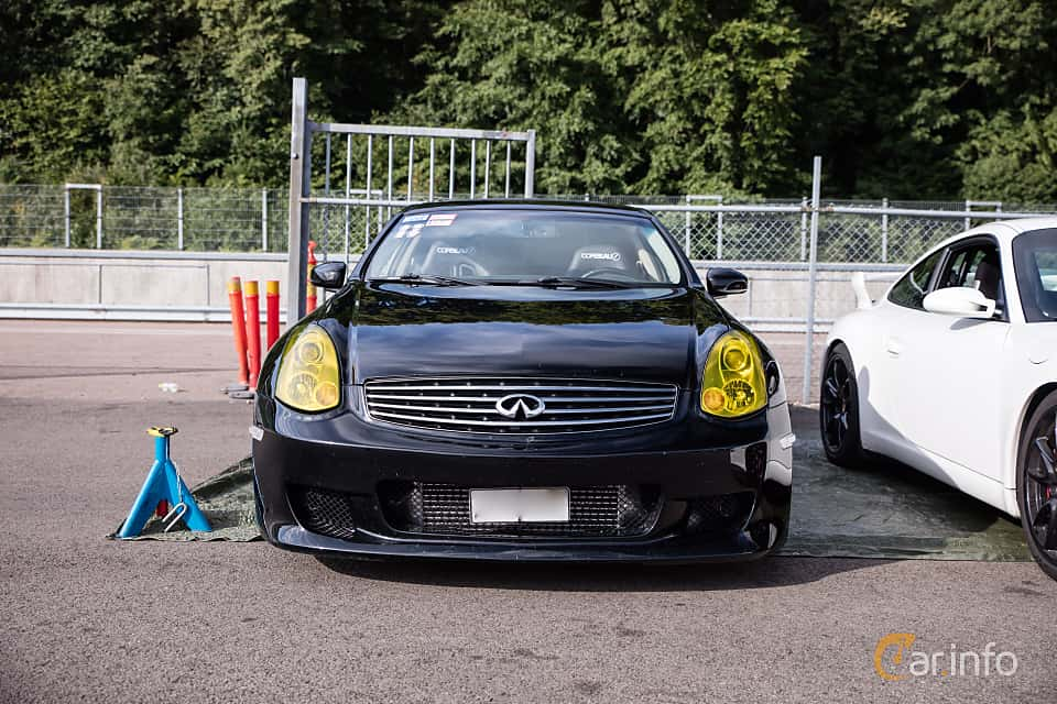 Front  of Infiniti G35 Coupé 3.5 V6 Manual, 302ps, 2006 at JapTuning Trackday 2018 Knutstorp