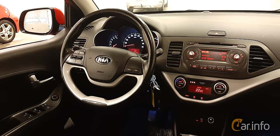 Interior of Kia Picanto 5-door 1.0 Manual, 69ps, 2016