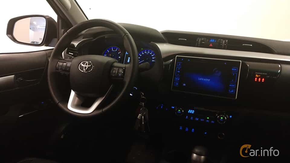 Interior of Toyota Hilux Double Cab 2.4 AWD Automatic, 150ps, 2018
