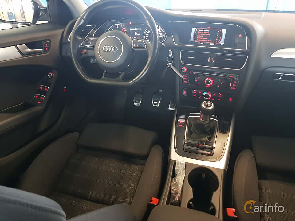 Interior of Audi A4 Sedan 2.0 TDI clean diesel  Manual, 190ps, 2015