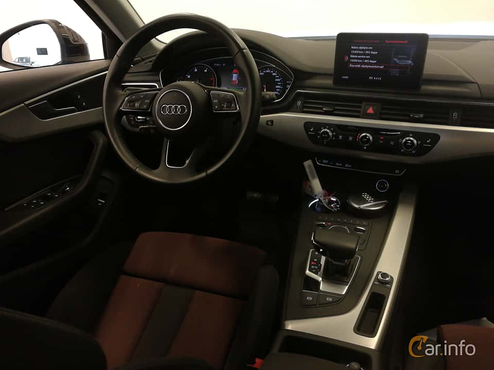 Interior of Audi A4 Avant 2.0 TDI quattro S Tronic, 190ps, 2018