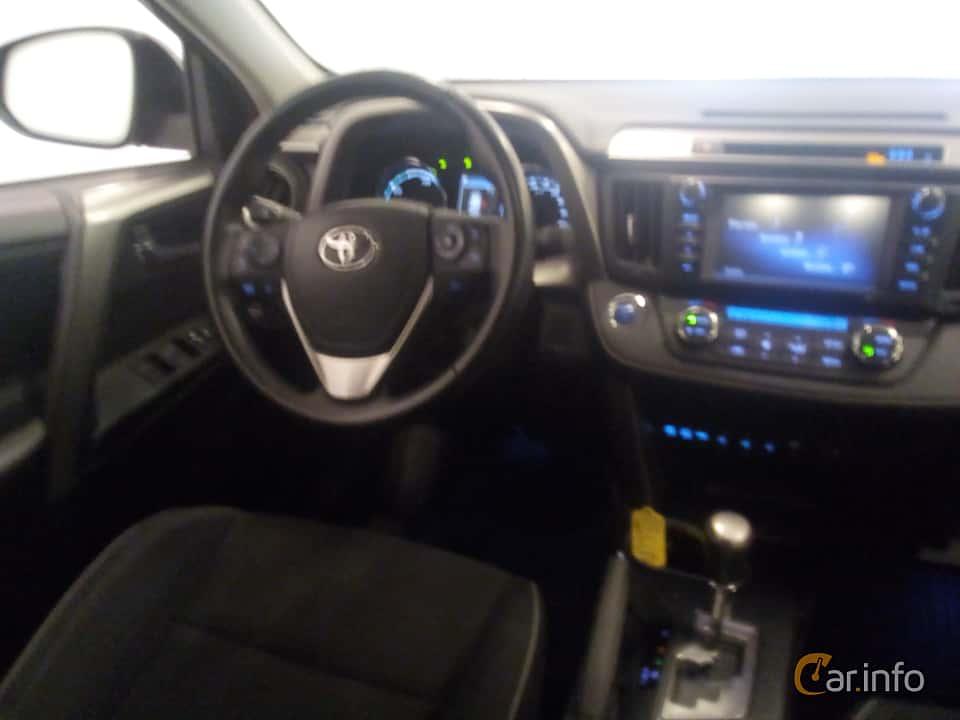 Interior of Toyota RAV4 Hybrid E-FOUR 2.5 i-AWD ECVT, 197ps, 2017