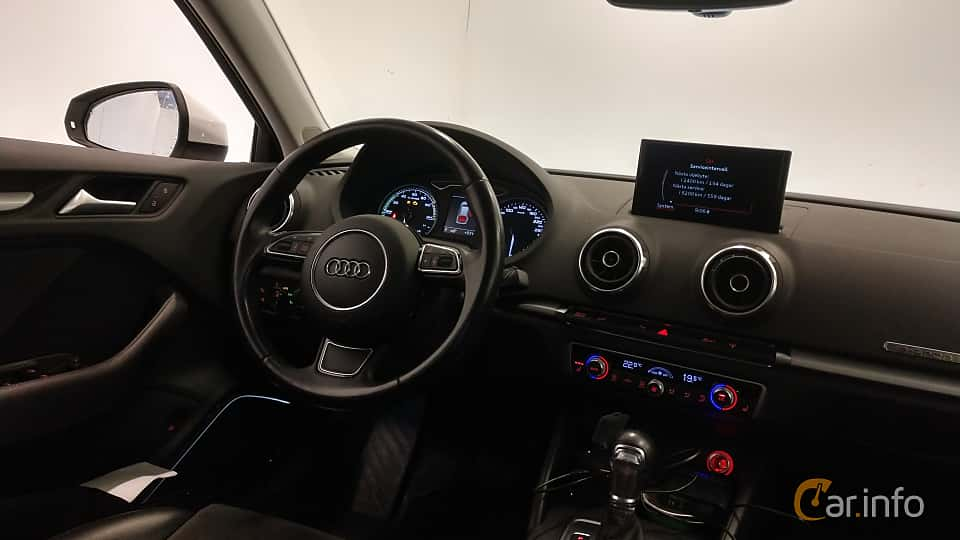 Interior of Audi A3 Sportback e-Tron 1.4 TFSI S Tronic, 204ps, 2016