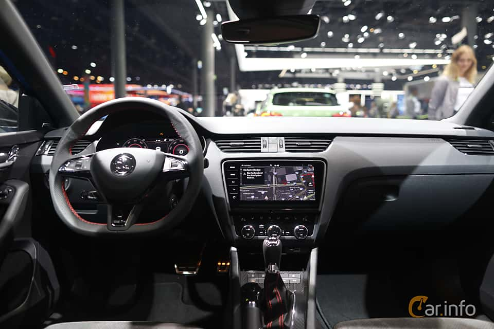 Interior of Skoda Octavia RS Combi 2.0 TSI Manual, 245ps, 2020 at IAA 2019