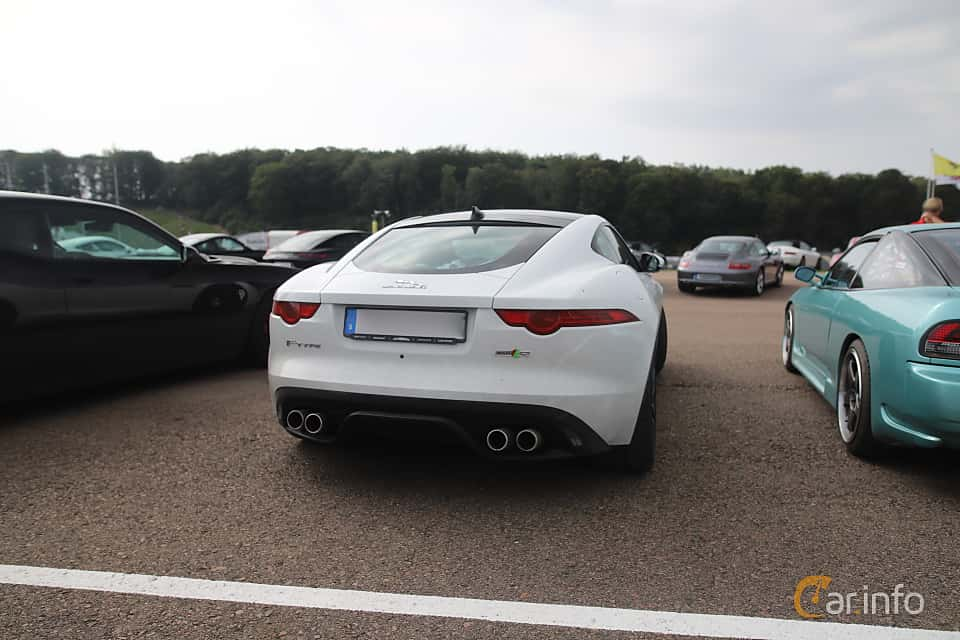 Back/Side of Jaguar F-Type R AWD  Automatic, 550ps, 2016 at Autoropa Racing day Knutstorp 2019