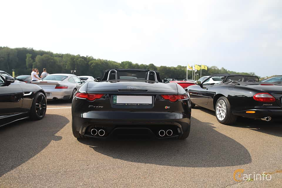 Back of Jaguar F-Type V8 S Convertible  Automatic, 495ps, 2014 at Autoropa Racing day Knutstorp 2019