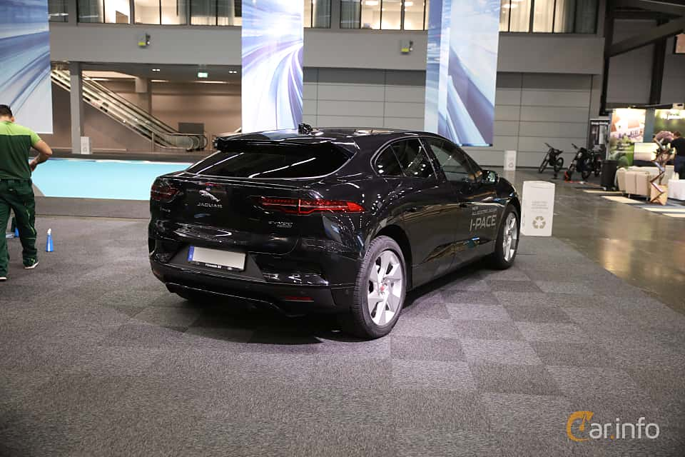 Back/Side of Jaguar I-Pace EV400 AWD  Single Speed, 400ps, 2019 at eCar Expo Göteborg 2018