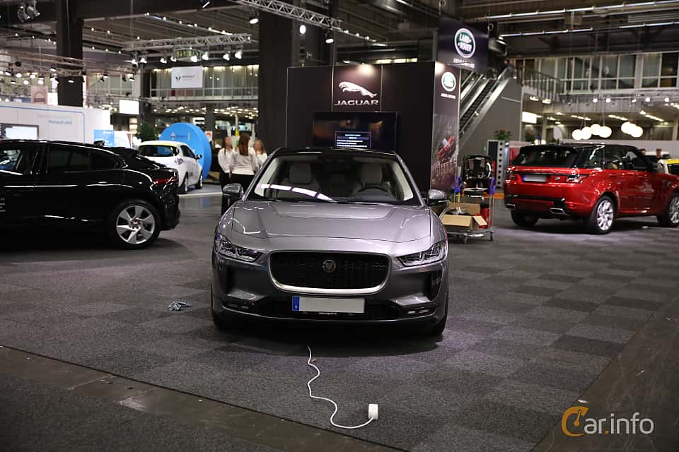 Front  of Jaguar I-Pace EV400 AWD  Single Speed, 400ps, 2019 at eCar Expo Göteborg 2018