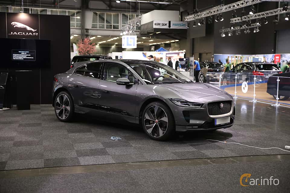 Front/Side  of Jaguar I-Pace EV400 AWD  Single Speed, 400ps, 2019 at eCar Expo Göteborg 2018