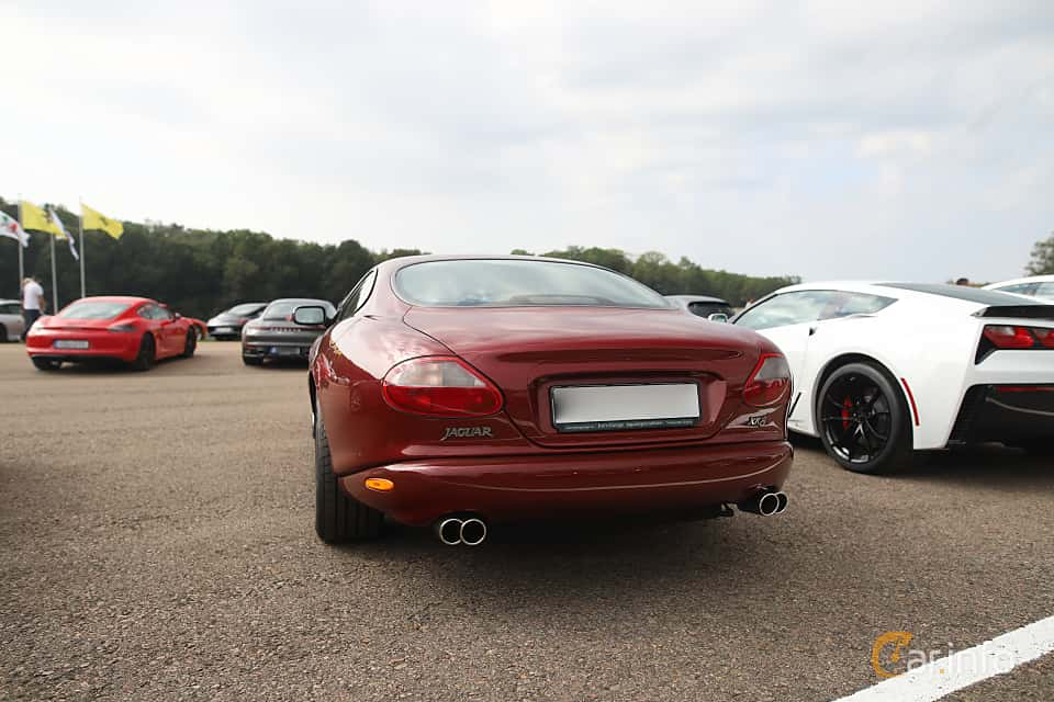 Back/Side of Jaguar XK8 4.0 V8 Automatic, 284ps, 1998 at Autoropa Racing day Knutstorp 2019