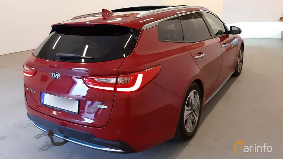 Back/Side of Kia Optima Sport Wagon Hybrid P-HEV 2.0 Hybrid Automatic, 205ps, 2018