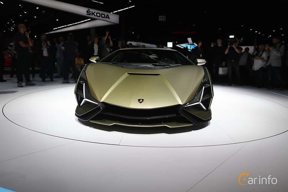 Front  of Lamborghini Sián 6.5 V12 ISR, 819ps, 2020 at IAA 2019