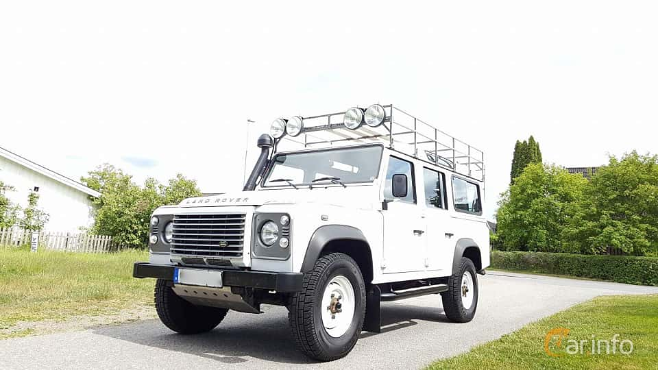 Front/Side  of Land Rover Defender 110 Station Wagon 2.4 TD4 4x4 Manual, 122ps, 2011