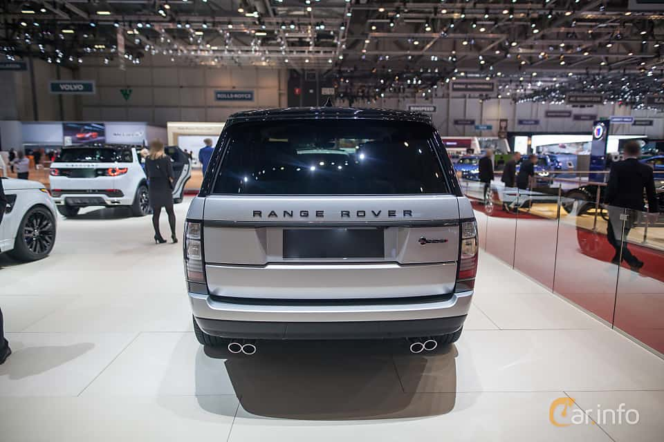 Back of Land Rover Range Rover 5.0 V8 4WD Automatic, 550ps, 2017 at Geneva Motor Show 2017