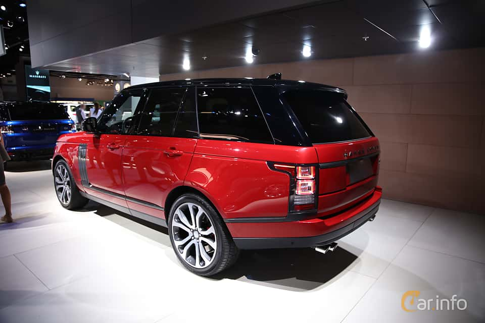 Back/Side of Land Rover Range Rover 5.0 V8 4WD Automatic, 550ps, 2017 at IAA 2017