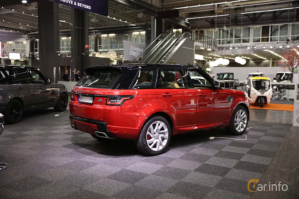 Back/Side of Land Rover Range Rover Sport P400e 2.0 + 13.1 kWh 4WD Automatic, 404ps, 2018 at eCar Expo Göteborg 2018