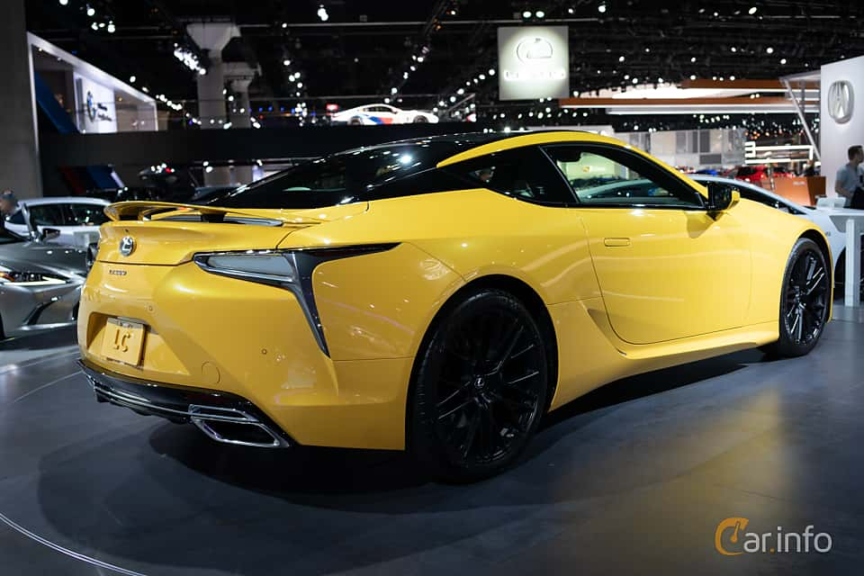 Back/Side of Lexus LC 500 5.0 V8 Automatic, 477ps, 2019 at LA Motor Show 2018