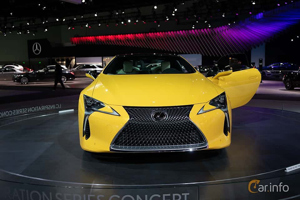 Front  of Lexus LC 500 5.0 V8 Automatic, 477ps, 2019 at LA Motor Show 2018