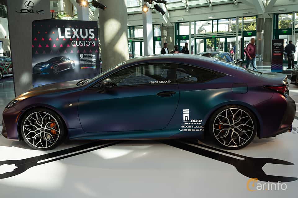Side  of Lexus RC 350 3.5 V6 Automatic, 318ps, 2019 at LA Motor Show 2018