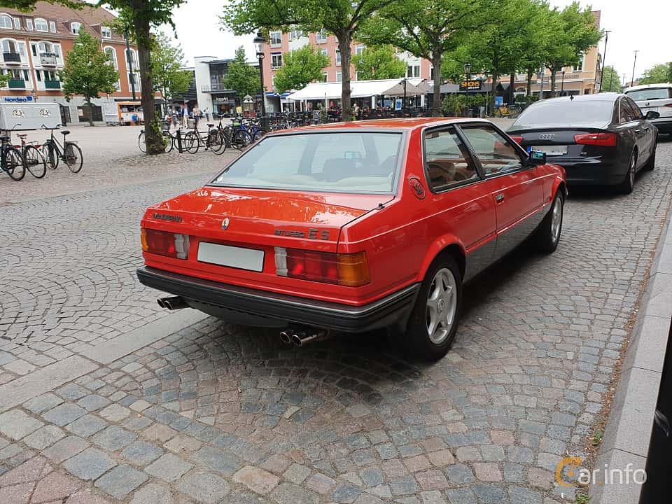 Back/Side of Maserati Biturbo E II 2.5 V6 Manual, 185ps, 1987
