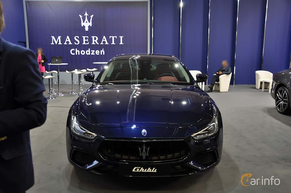 Front  of Maserati Ghibli Diesel 3.0 V6  Automatic, 275ps, 2018 at Warsawa Motorshow 2018