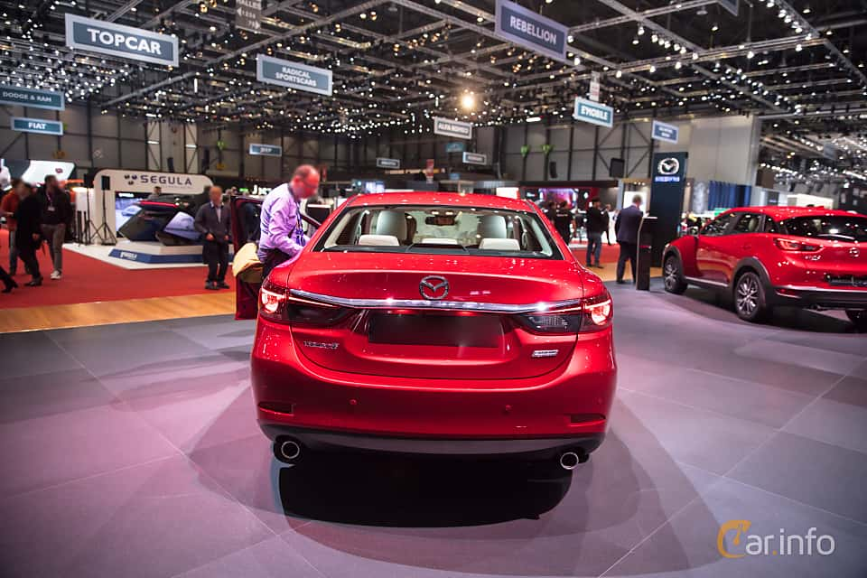 Back of Mazda 6 Sedan 2.5 SKYACTIV-G Automatic, 192ps, 2017 at Geneva Motor Show 2017