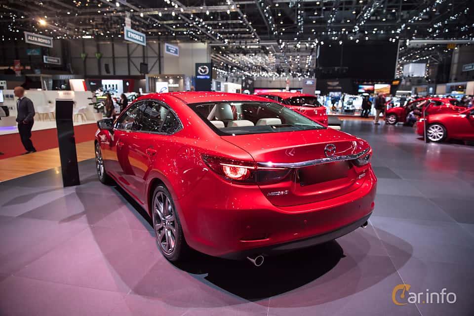 Back/Side of Mazda 6 Sedan 2.5 SKYACTIV-G Automatic, 192ps, 2017 at Geneva Motor Show 2017