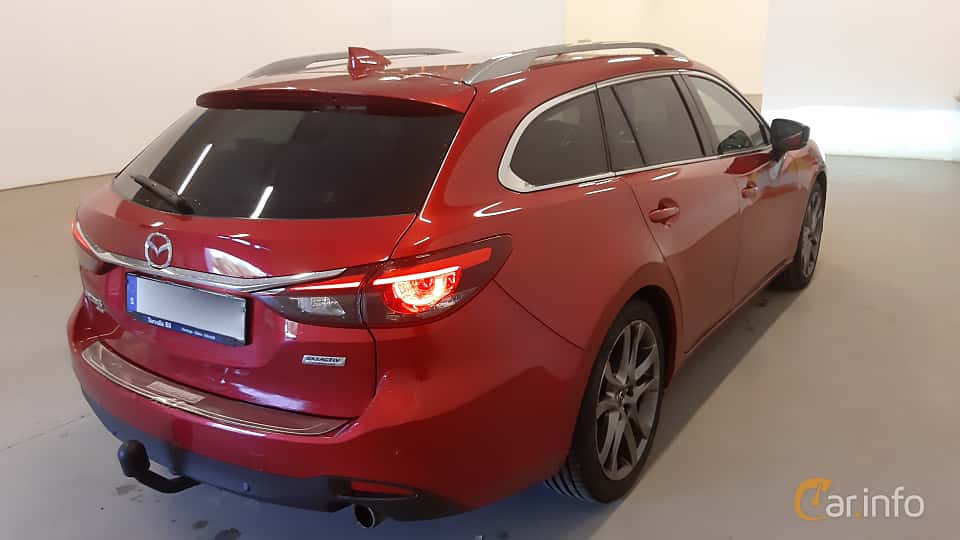 Back/Side of Mazda 6 Wagon 2.2 SKYACTIV-D AWD Automatic, 175ps, 2016