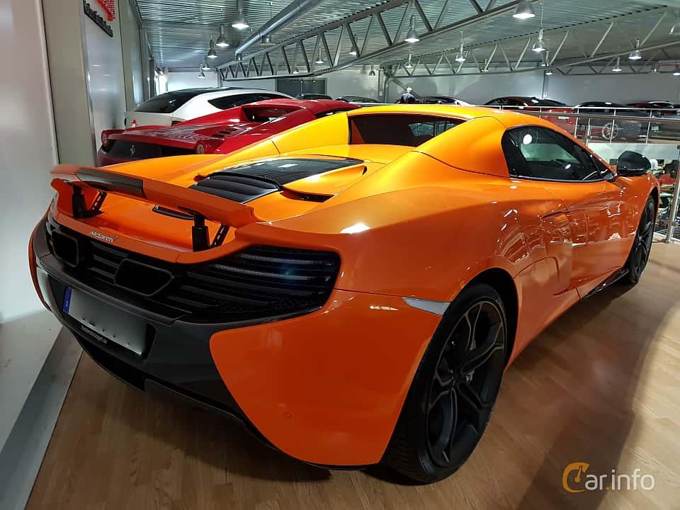 Back/Side of McLaren 650S Spider 3.8 V8 DCT, 650ps, 2016