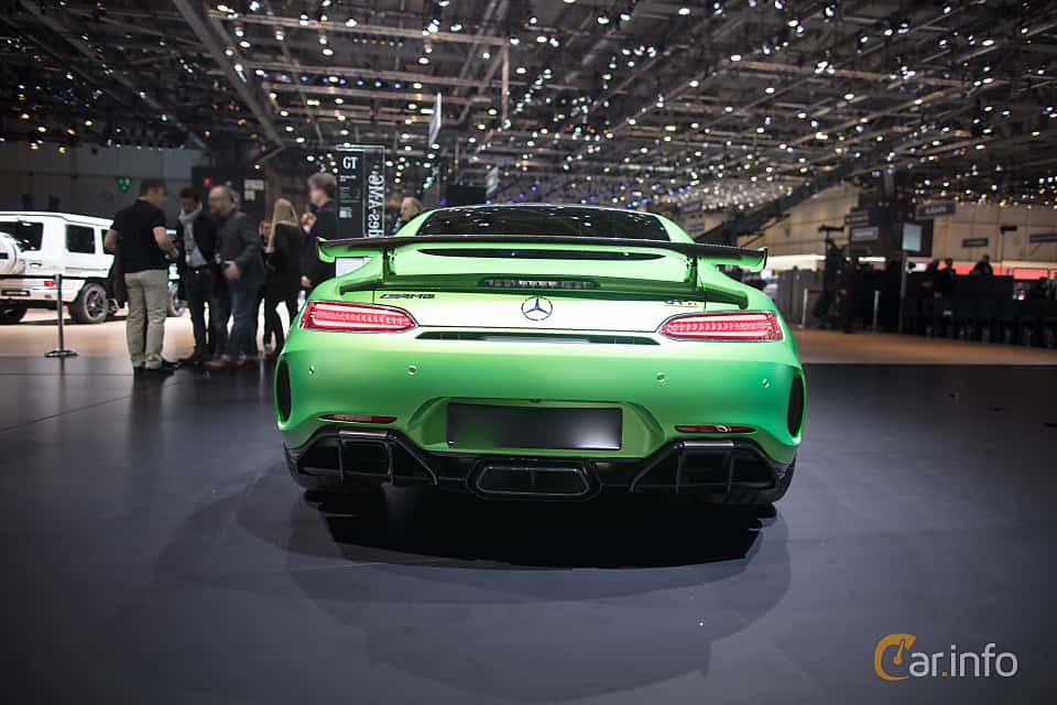 Back of Mercedes-Benz AMG GT R  AMG Speedshift DCT, 585ps, 2017 at Geneva Motor Show 2017