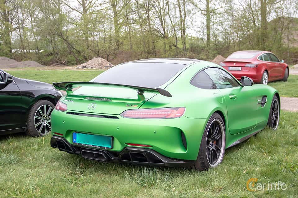 Back/Side of Mercedes-Benz AMG GT R  AMG Speedshift DCT, 585ps, 2017 at Lucys motorfest 2019