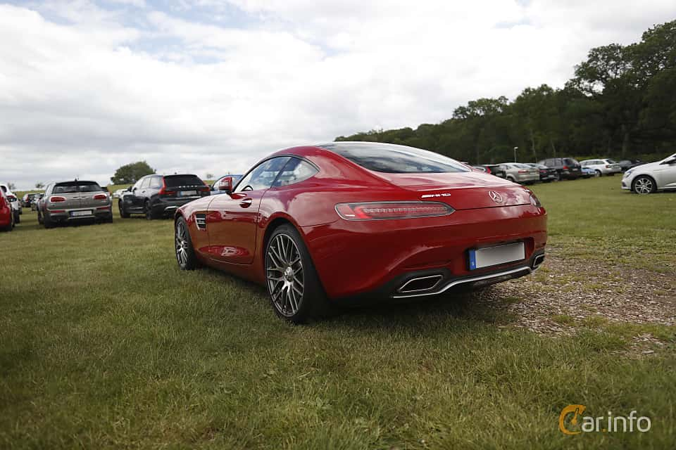 Back/Side of Mercedes-Benz AMG GT S  AMG Speedshift DCT, 510ps, 2016 at Sofiero Classic 2019