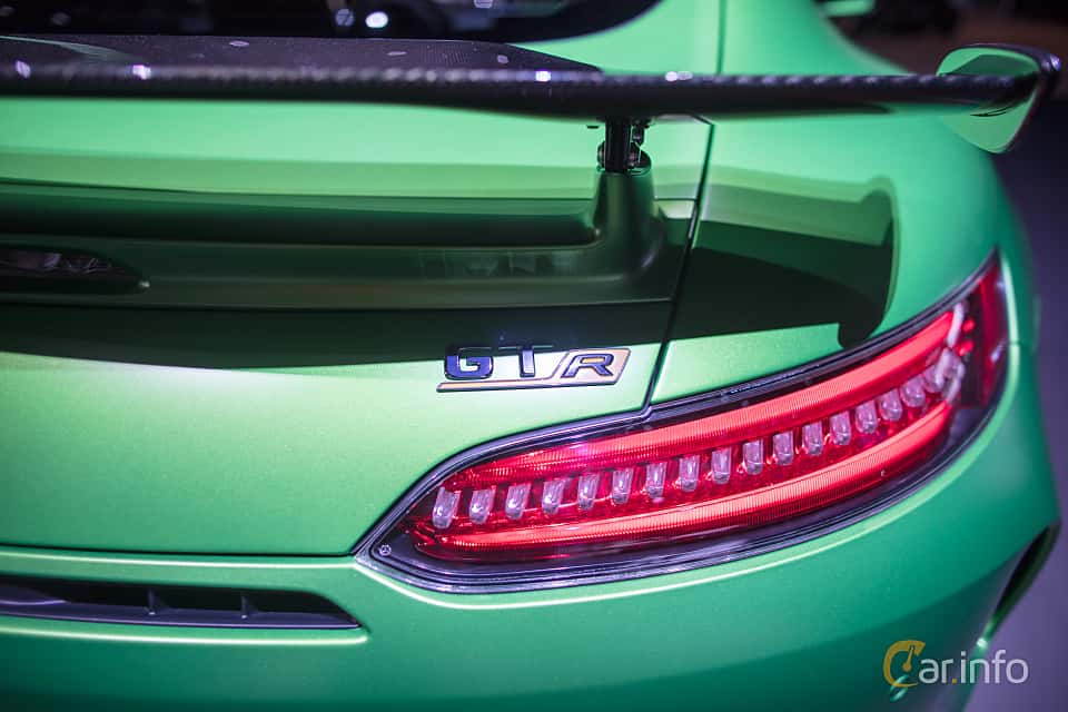 Close-up of Mercedes-Benz AMG GT R  AMG Speedshift DCT, 585ps, 2017 at Geneva Motor Show 2017
