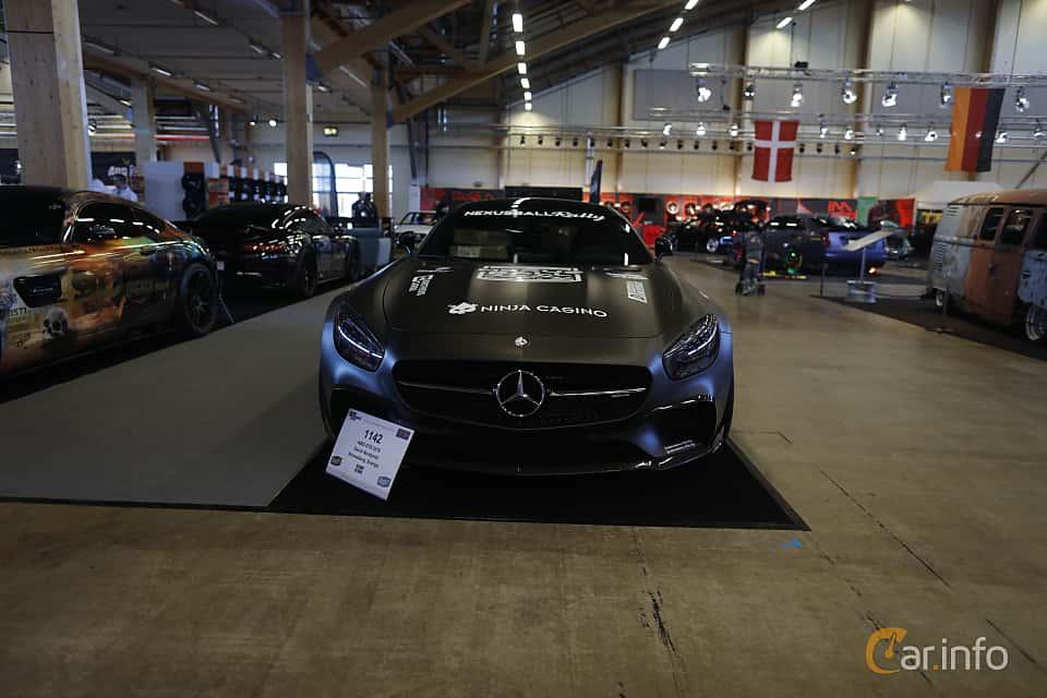 Fram av Mercedes-Benz AMG GT S  AMG Speedshift DCT, 510ps, 2016 på Bilsport Performance & Custom Motor Show 2019