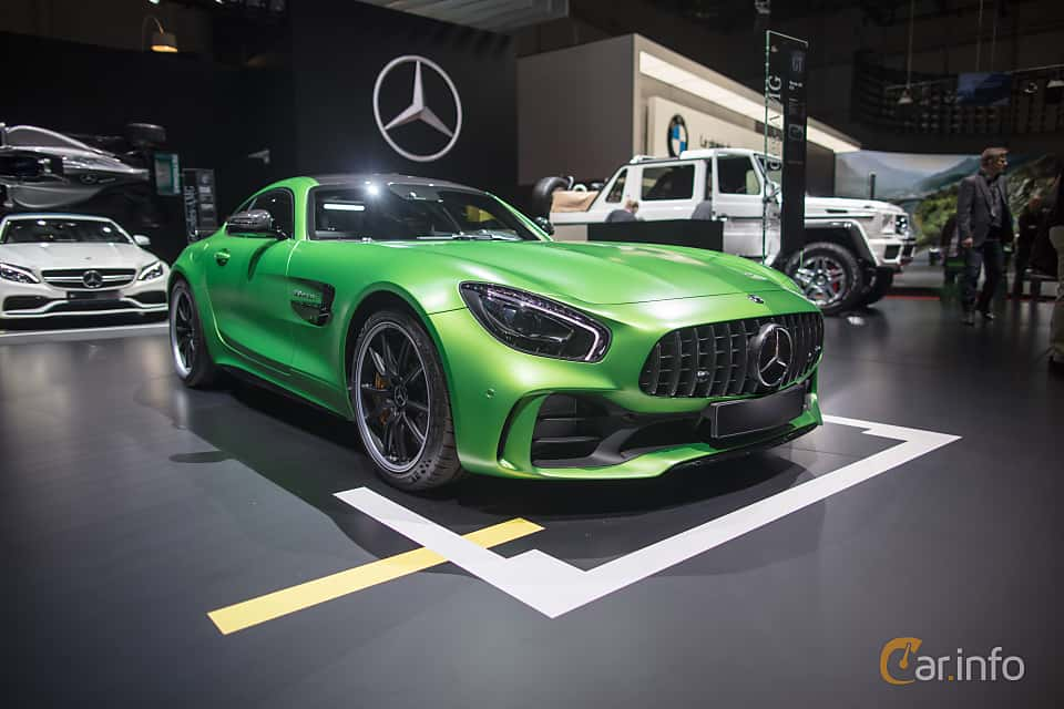 Front/Side  of Mercedes-Benz AMG GT R  AMG Speedshift DCT, 585ps, 2017 at Geneva Motor Show 2017
