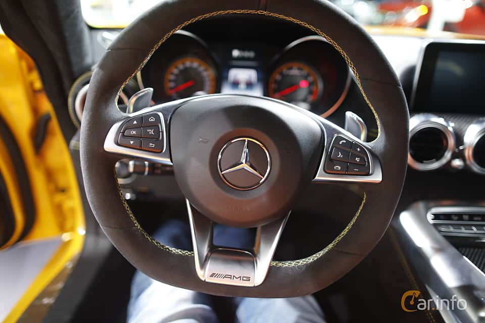 Interior of Mercedes-Benz AMG GT S 4.0 V8 AMG Speedshift DCT, 510ps, 2017 at North American International Auto Show 2017