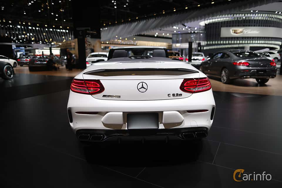 Back of Mercedes-Benz AMG C 63 S Cabriolet 4.0 V8 , 510ps, 2017 at North American International Auto Show 2017